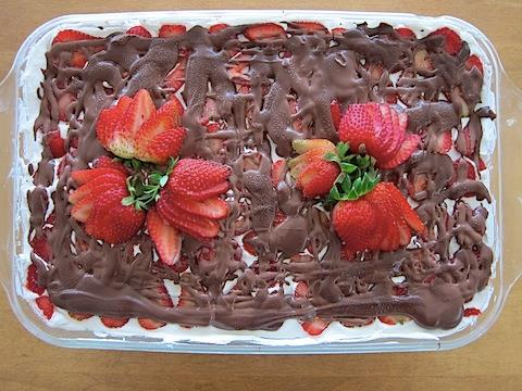 Strawberry Icebox No Bake Recipe