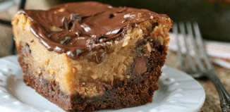 Chocolate Peanut Butter Cup Ooey Gooey Butter Cake