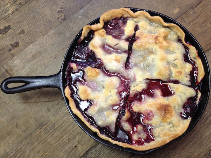 Iron Skillet Blackberry Cobbler
